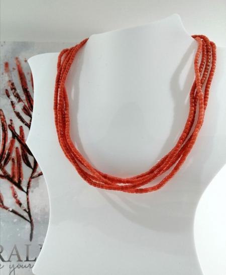 collana corallo barilotti