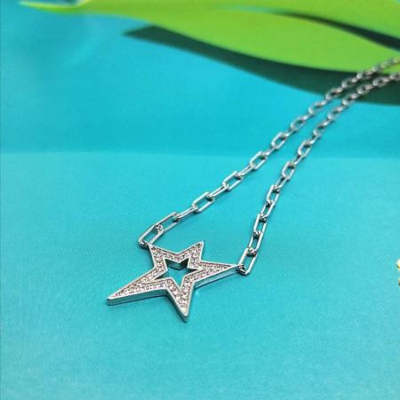 collana stella zirconi e argento