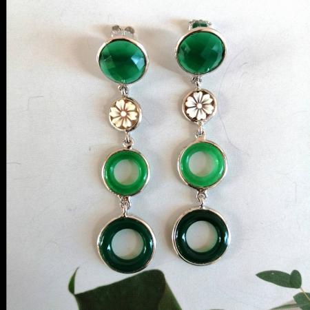 orecchini cammei e agata verde