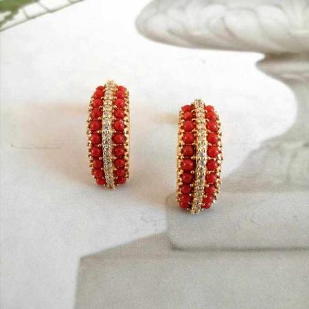 corallo rosso quantum orecchini