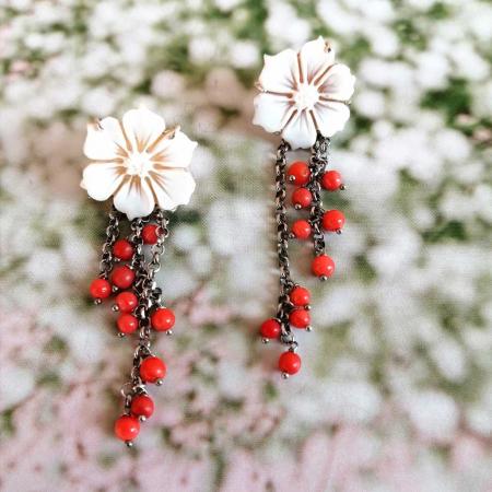 orecchini fiore cammeo