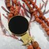 collana corallo e agata nera